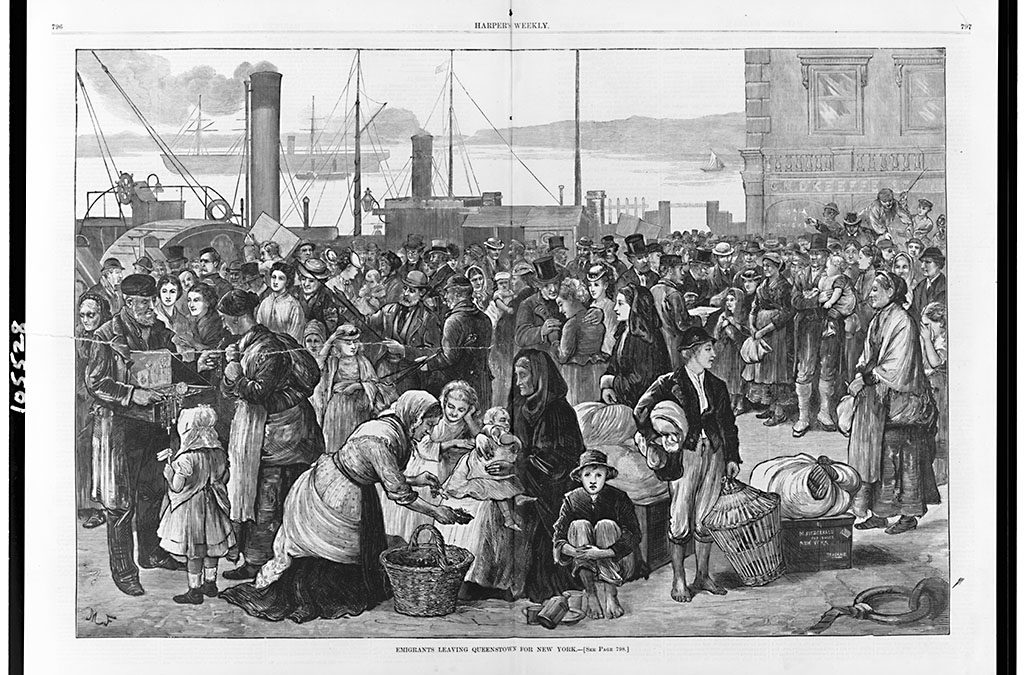 Emigrants leaving Queenstown for New York / M.F./ cph 3c05528 //hdl.loc.gov/loc.pnp/cph.3c05528/